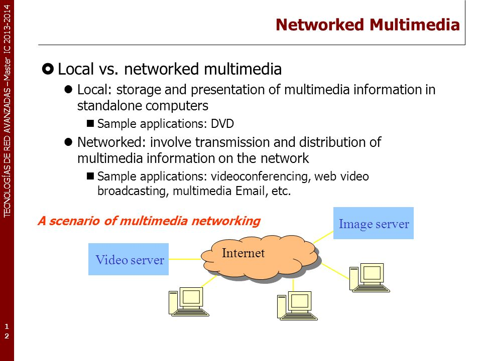 Local vs. networked multimedia