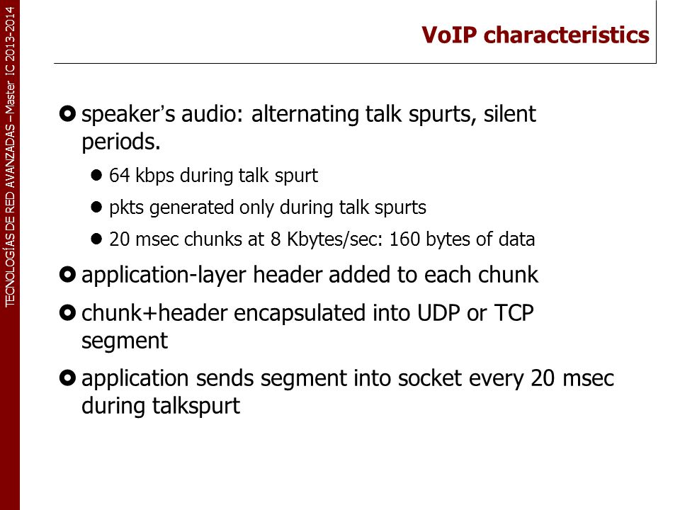speaker's audio: alternating talk spurts, silent periods.
