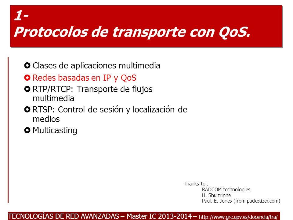 1- Protocolos de transporte con QoS.