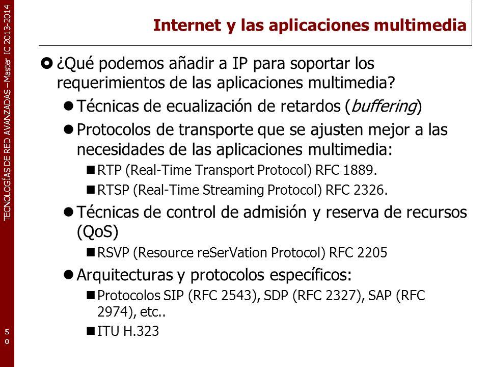 Internet y las aplicaciones multimedia