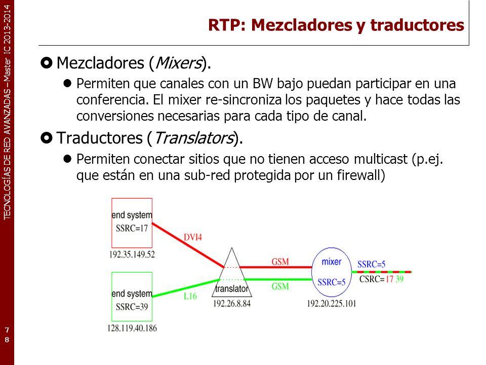 RTP: Mezcladores y traductores
