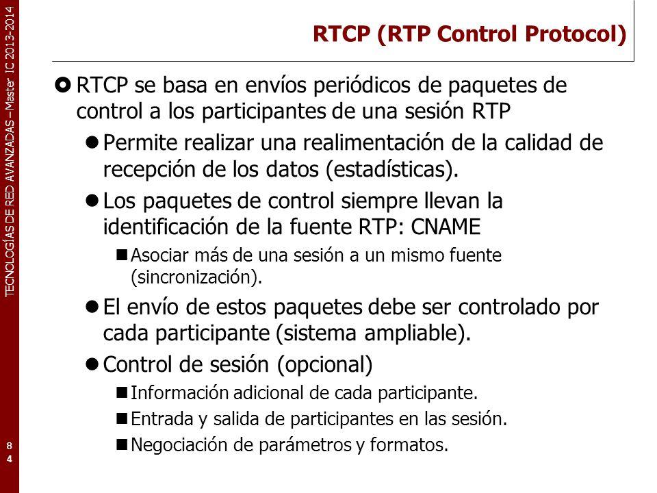 RTCP (RTP Control Protocol)
