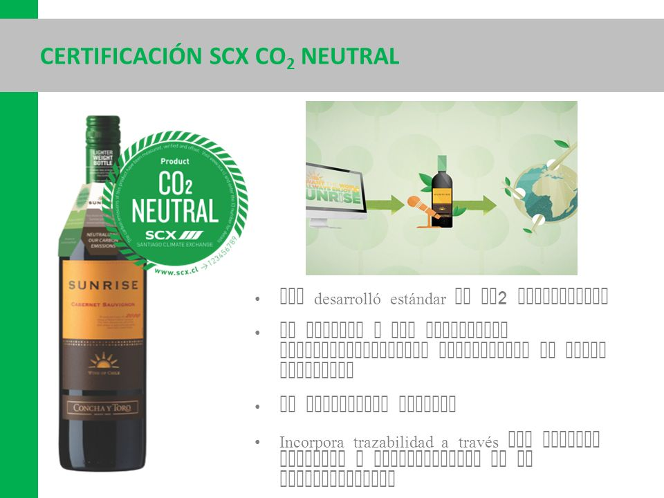 Certificación scx co2 neutral