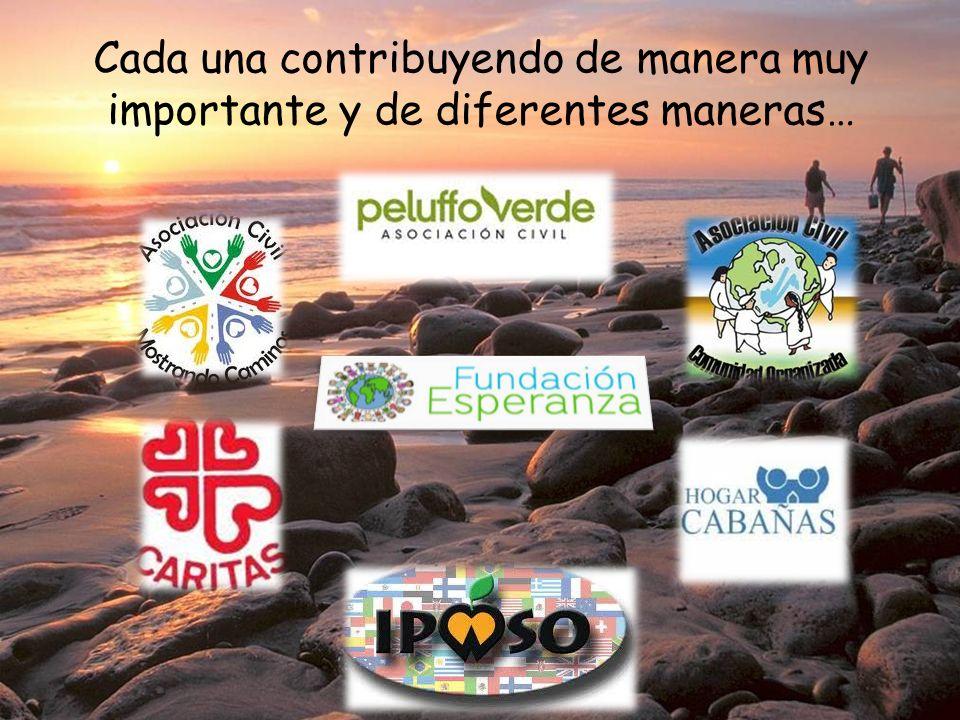 Cada una contribuyendo de manera muy importante y de diferentes maneras…