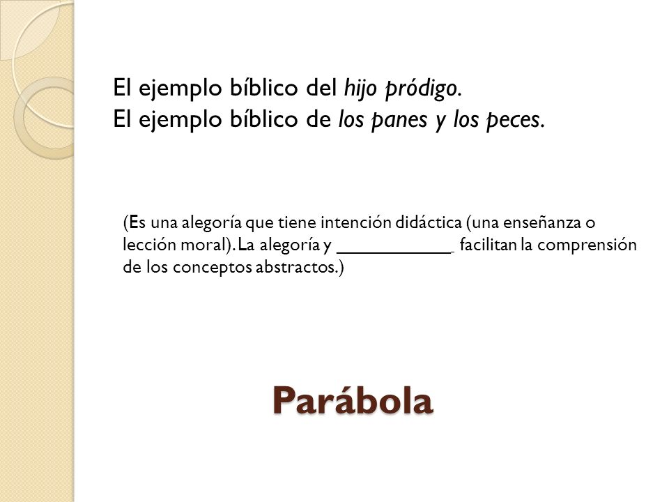 Parábola El ejemplo bíblico del hijo pródigo.
