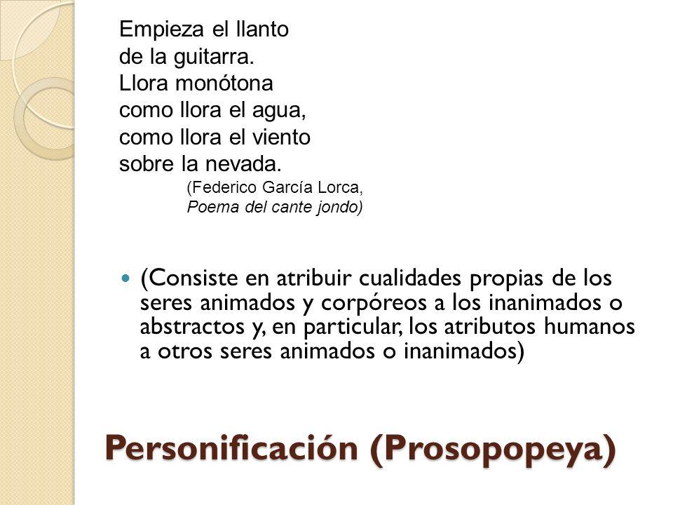 Personificación (Prosopopeya)