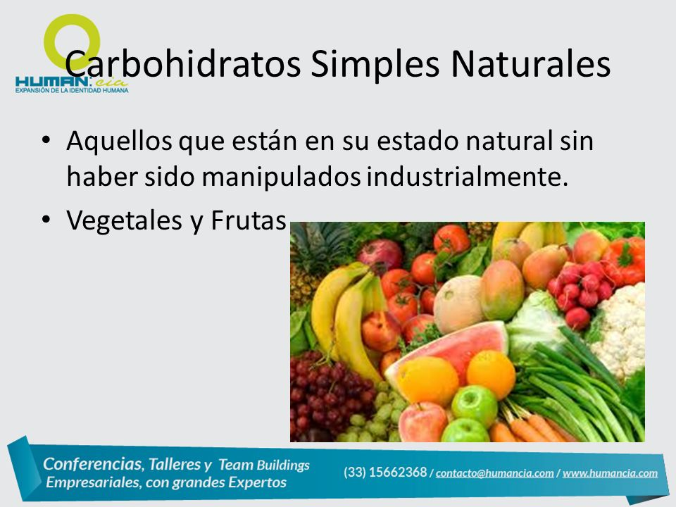 Carbohidratos Simples Naturales