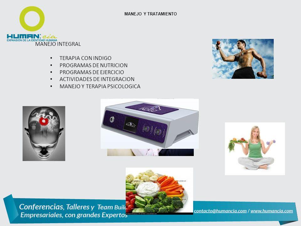 PROGRAMAS DE NUTRICION PROGRAMAS DE EJERCICIO