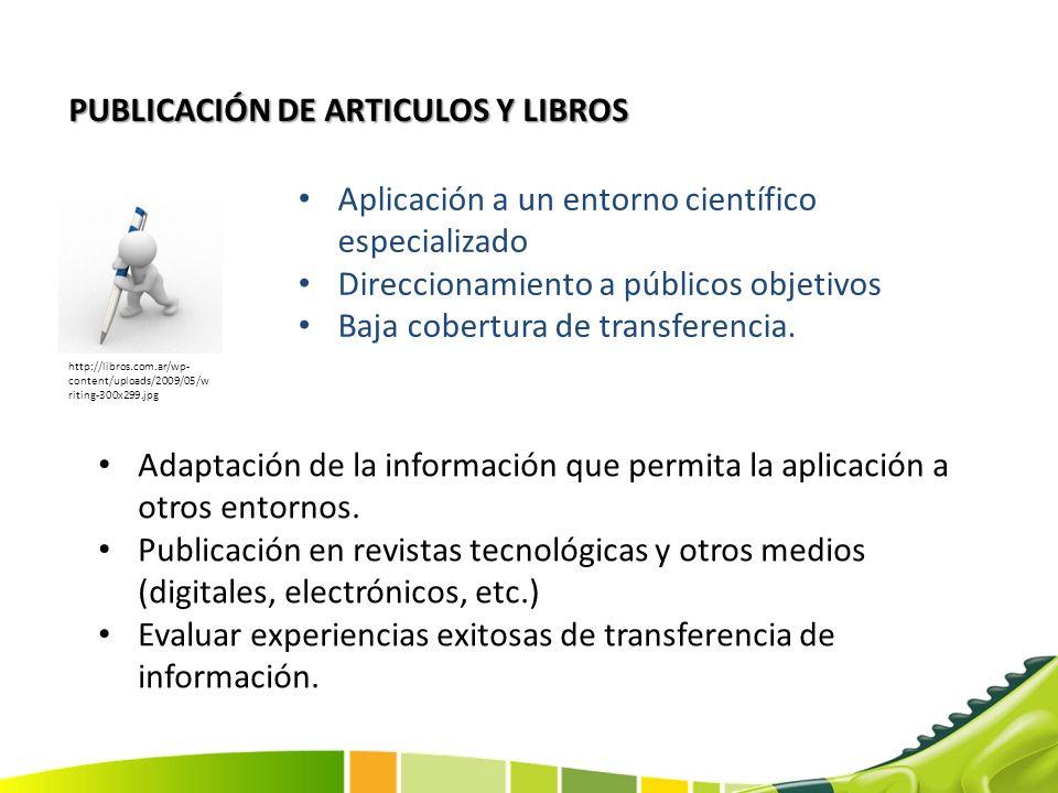 PUBLICACIÓN DE ARTICULOS Y LIBROS