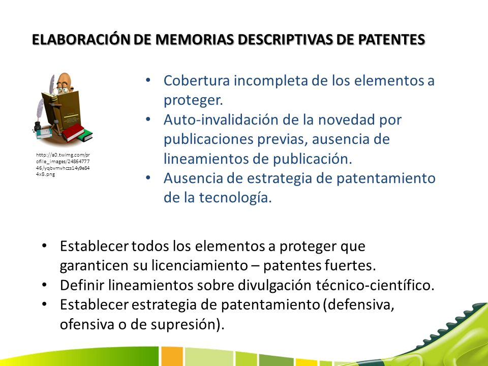 ELABORACIÓN DE MEMORIAS DESCRIPTIVAS DE PATENTES