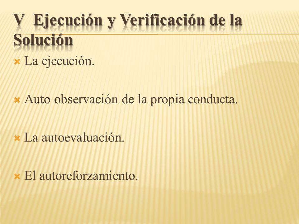 V Ejecución y Verificación de la Solución