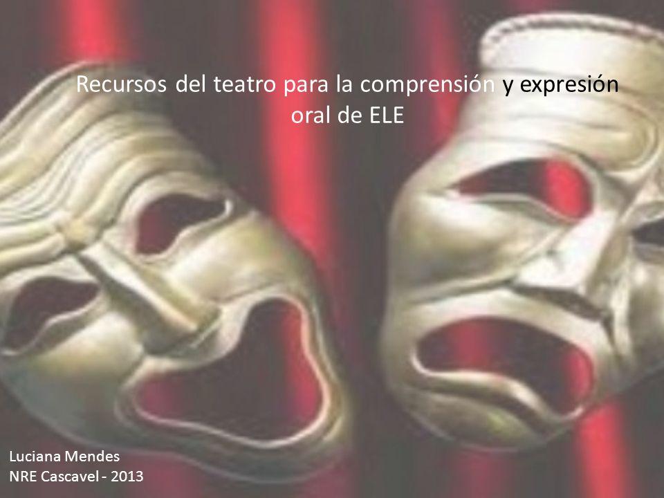 Recursos del teatro para la comprensión y expresión oral de ELE