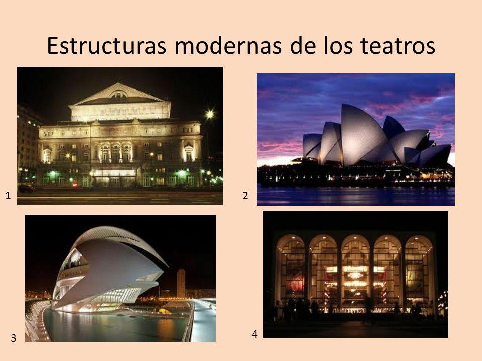 Estructuras modernas de los teatros