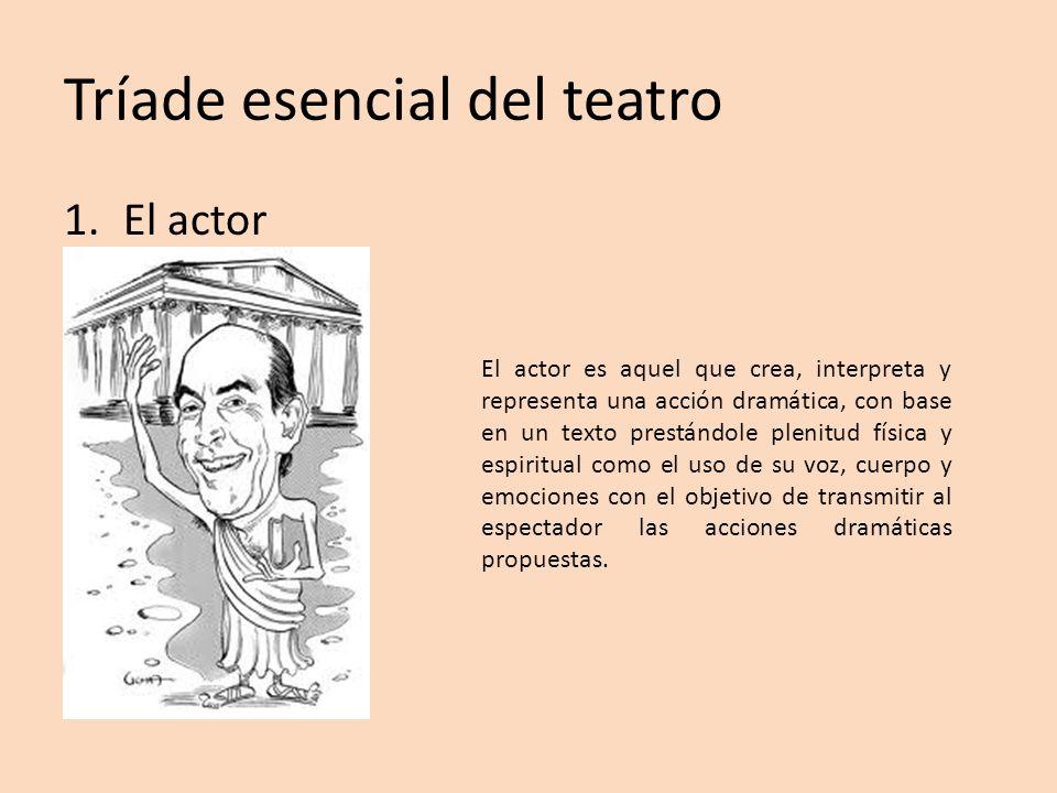 Tríade esencial del teatro