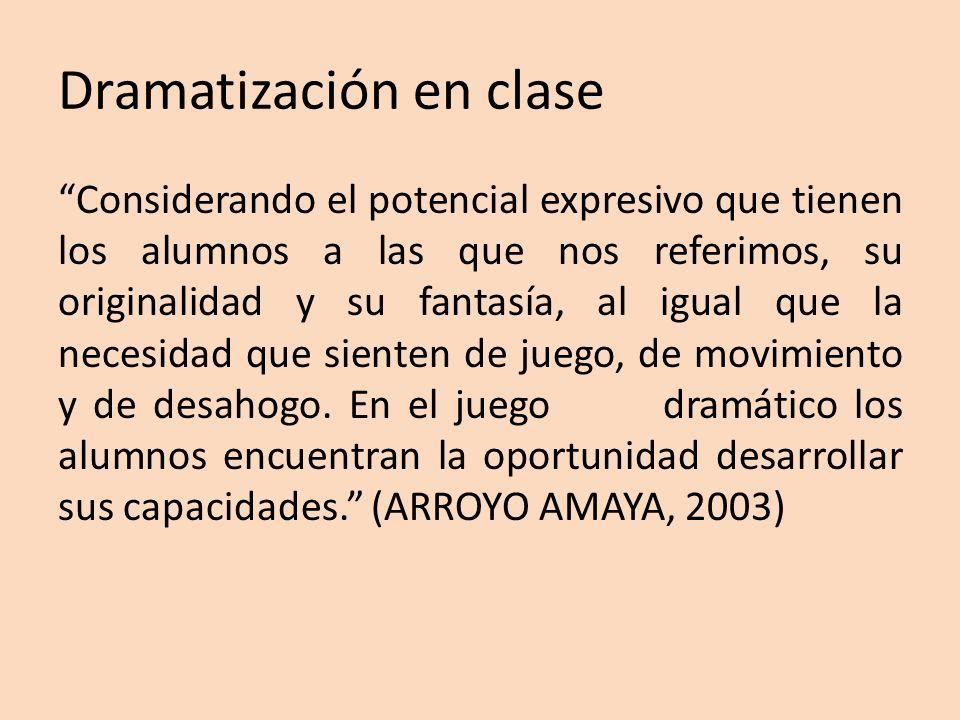 Dramatización en clase