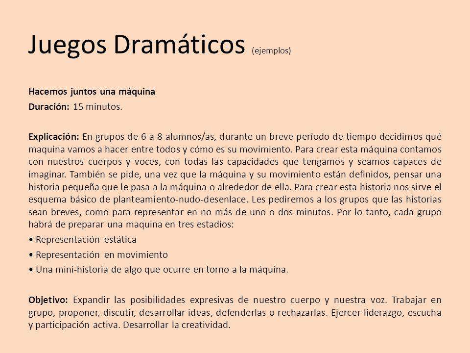 Juegos Dramáticos (ejemplos)