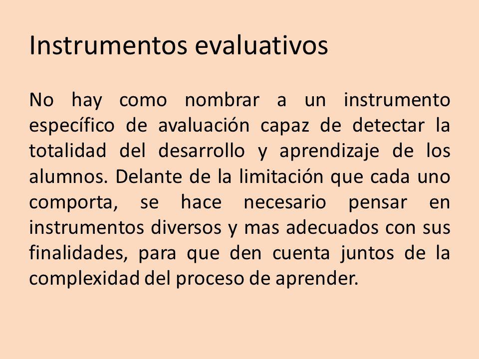 Instrumentos evaluativos