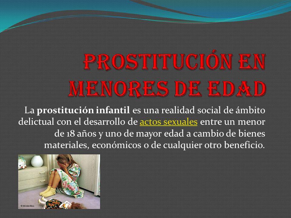 prostitución en menores de edad