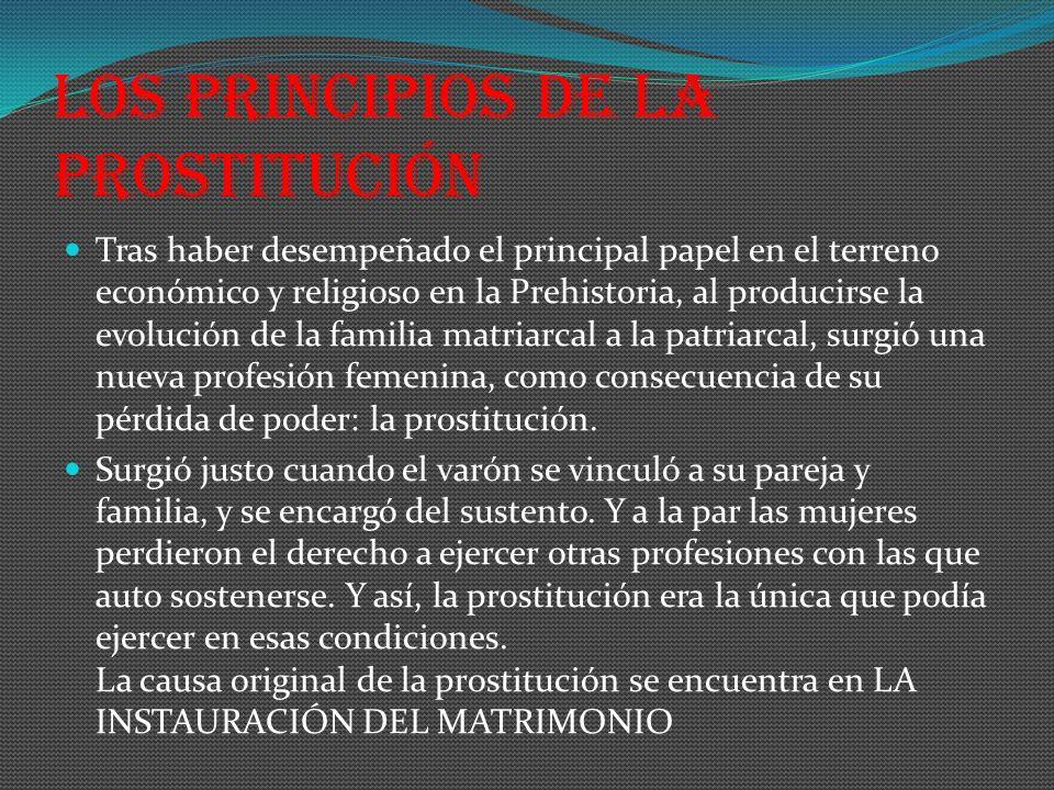 Los principios de la prostitución