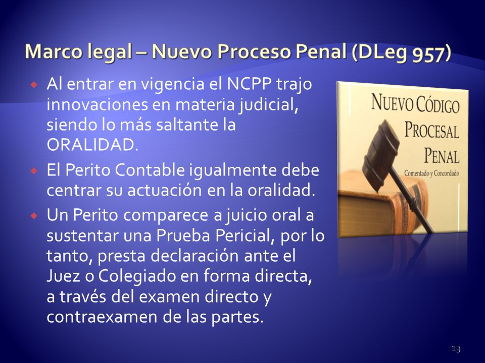 Marco legal – Nuevo Proceso Penal (DLeg 957)