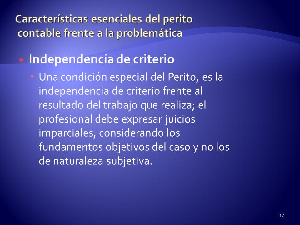Independencia de criterio