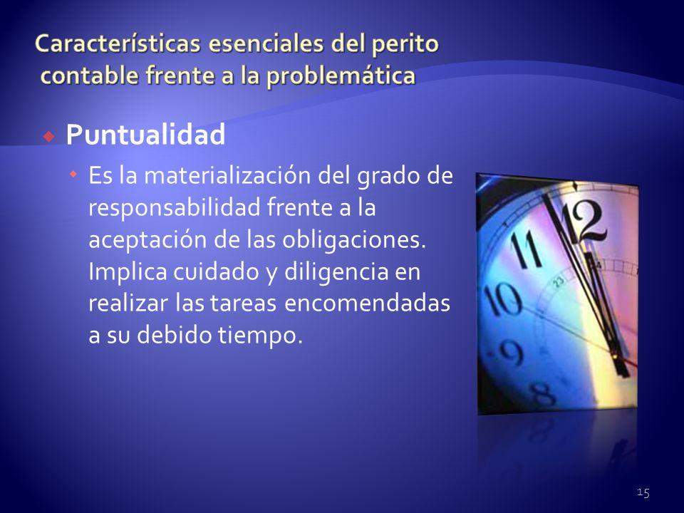 Características esenciales del perito contable frente a la problemática