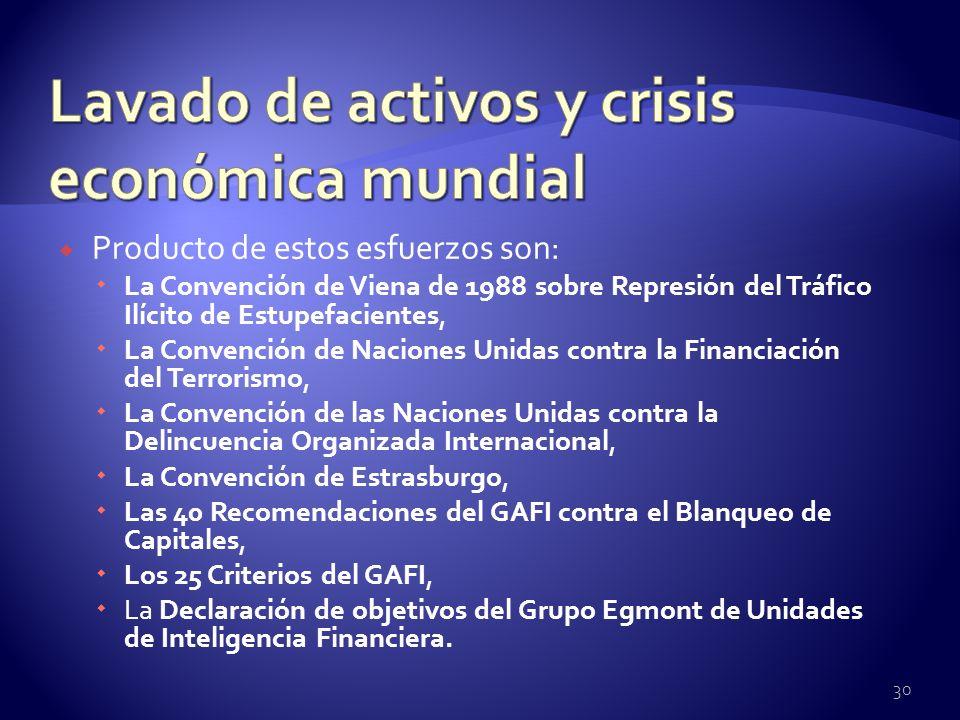 Lavado de activos y crisis económica mundial