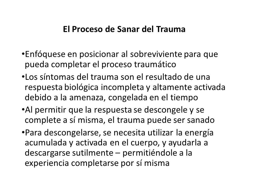 El Proceso de Sanar del Trauma