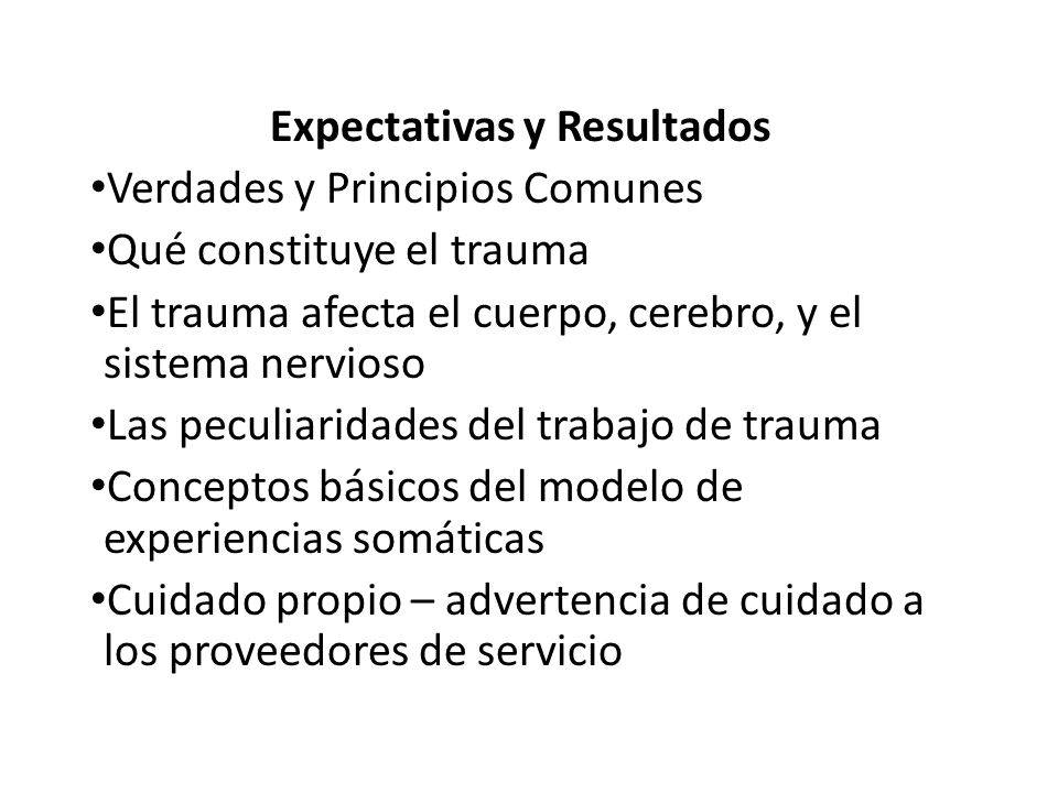 Expectativas y Resultados
