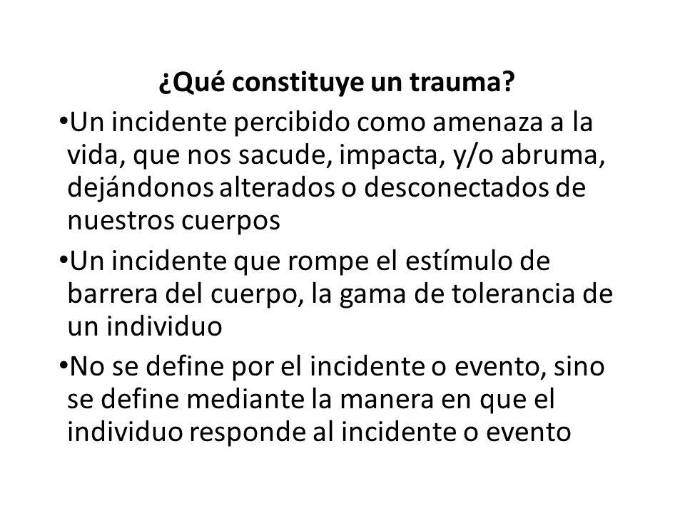¿Qué constituye un trauma