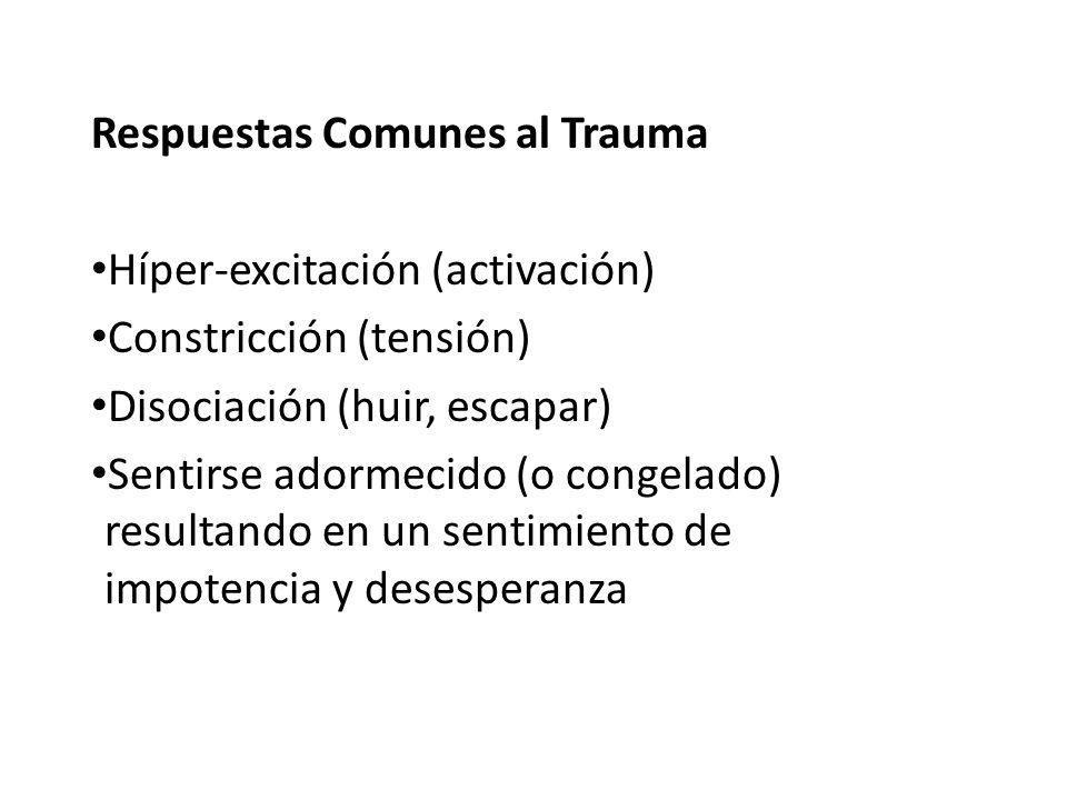 Respuestas Comunes al Trauma