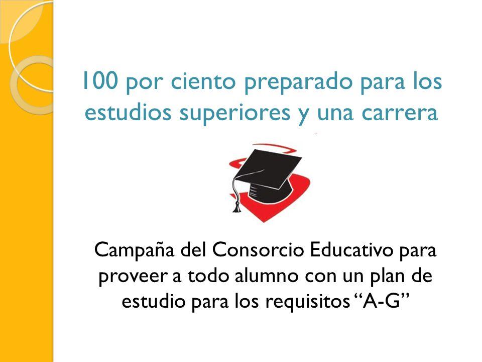 100 por ciento preparado para los estudios superiores y una carrera
