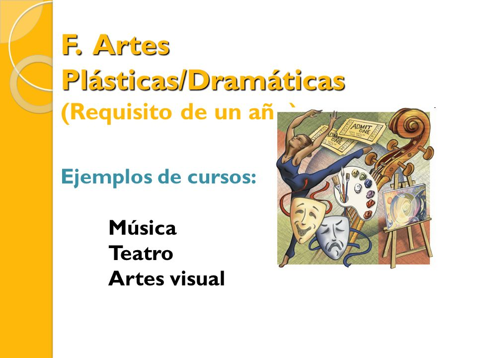 F. Artes Plásticas/Dramáticas