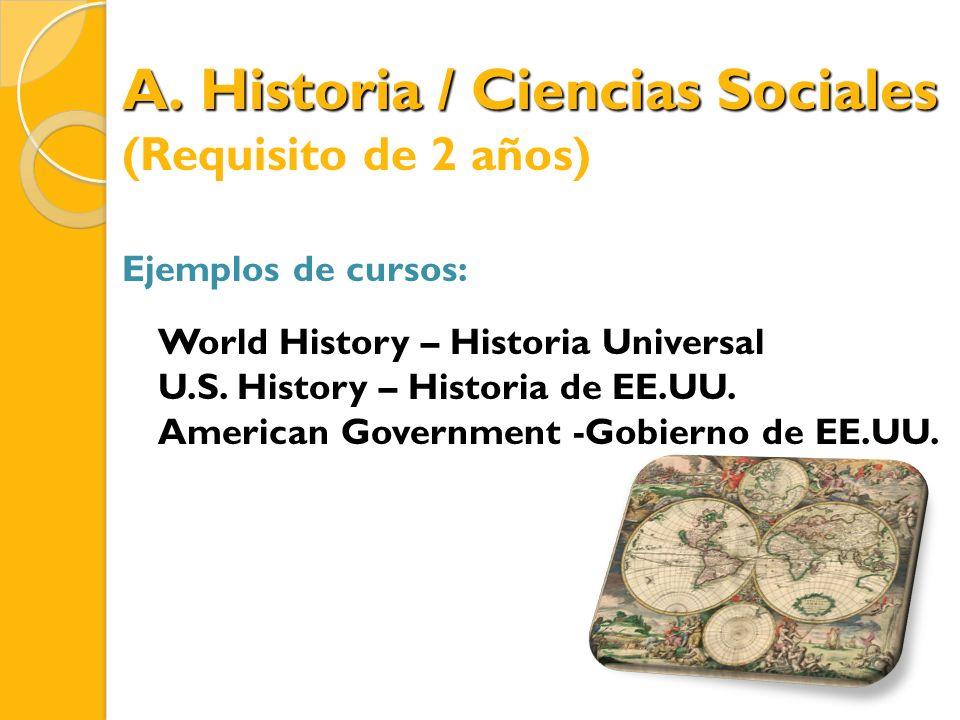 Historia / Ciencias Sociales