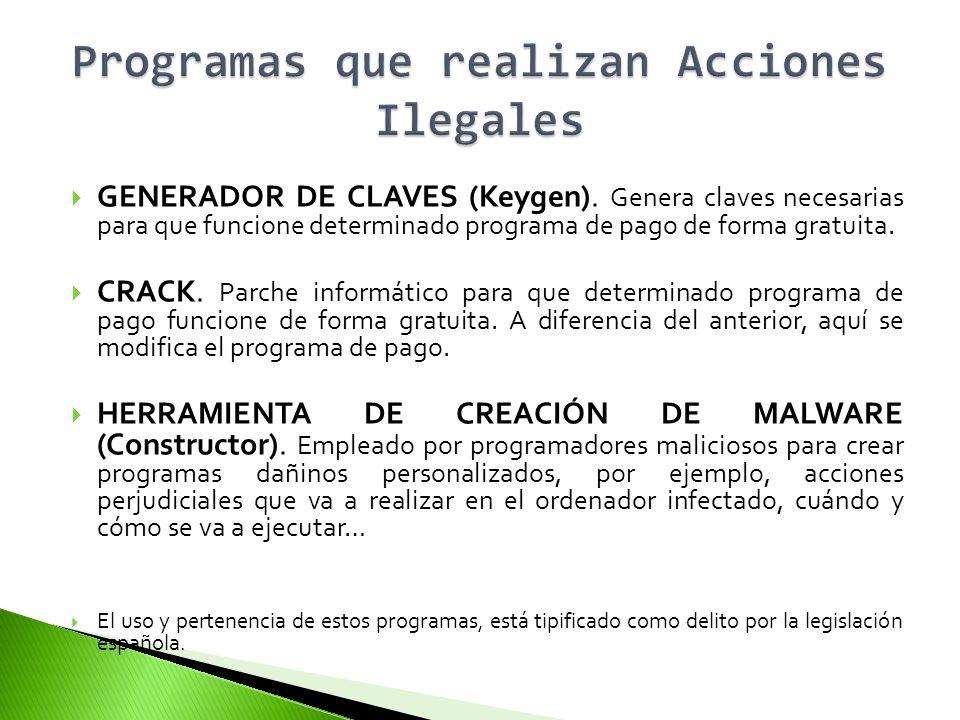 Programas que realizan Acciones Ilegales