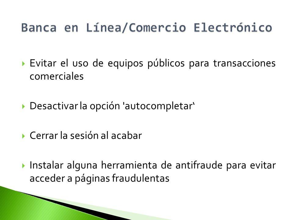Banca en Línea/Comercio Electrónico