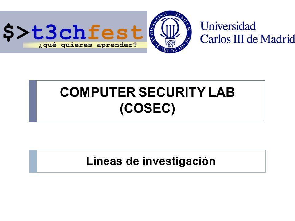 COMPUTER SECURITY LAB (COSEC) Líneas de investigación