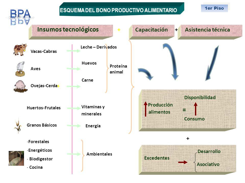 = + + Producción + ESQUEMA DEL BONO PRODUCTIVO ALIMENTARIO