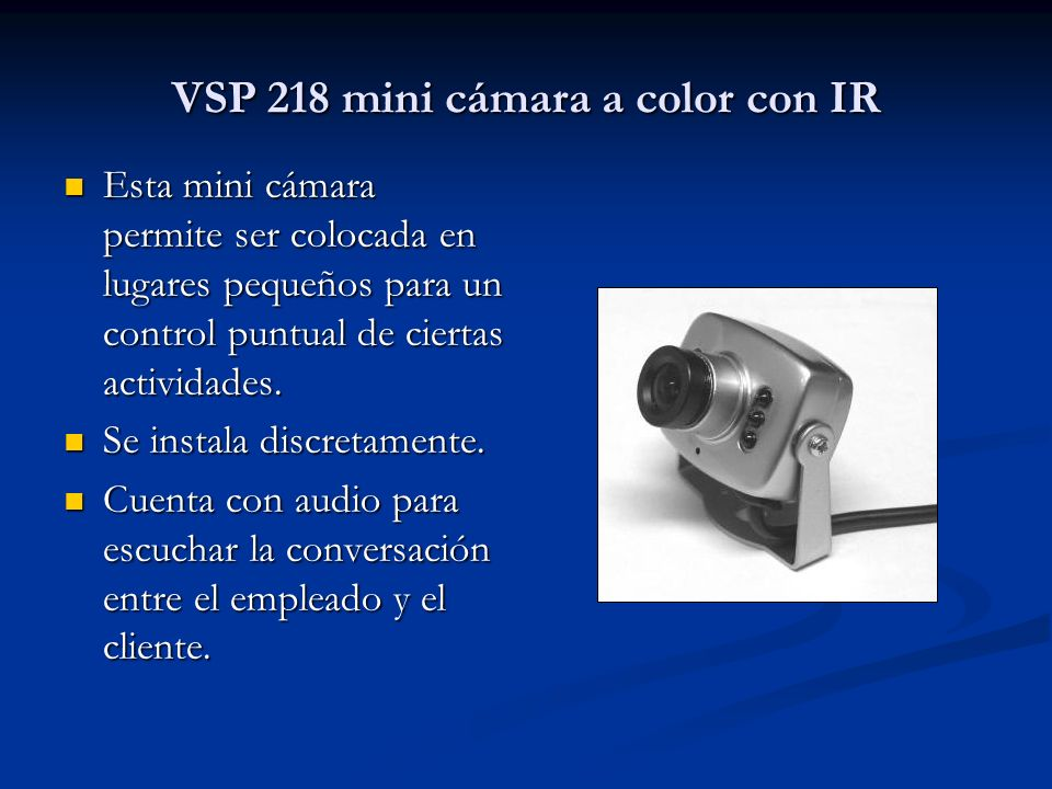 VSP 218 mini cámara a color con IR