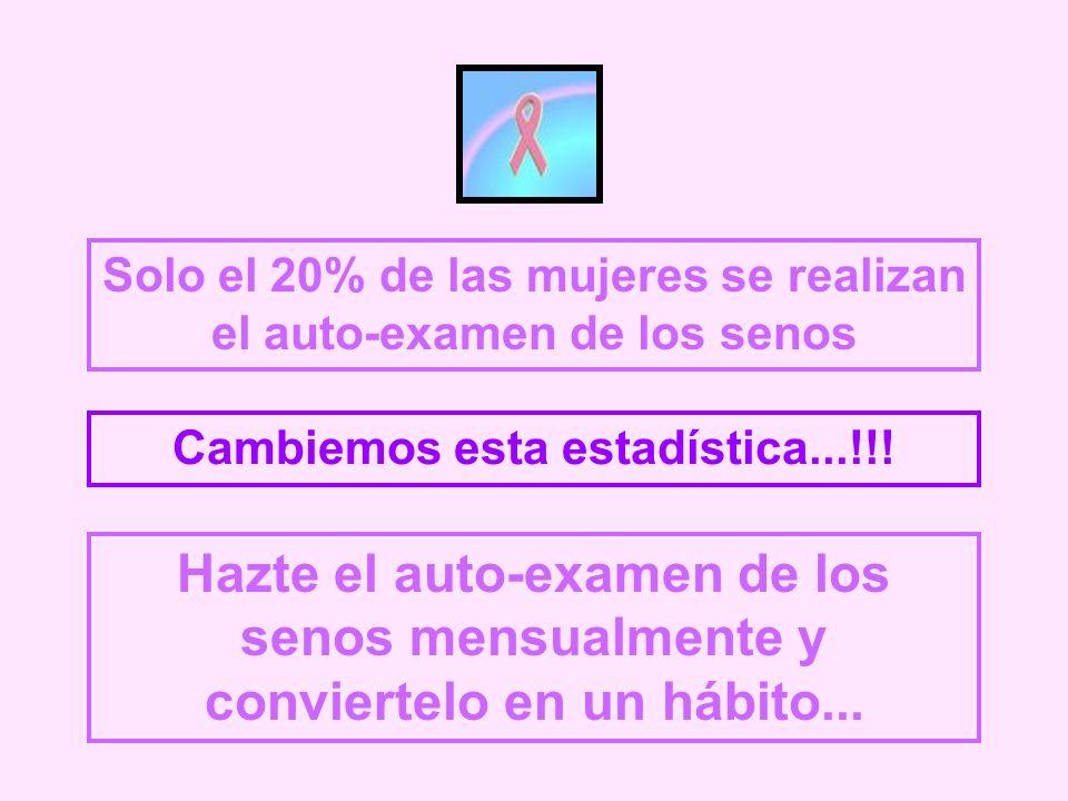 Solo el 20% de las mujeres se realizan el auto-examen de los senos