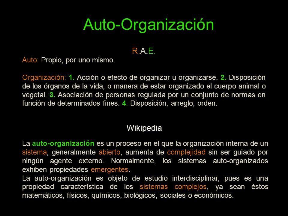 Auto-Organización R.A.E. Wikipedia Auto: Propio, por uno mismo.