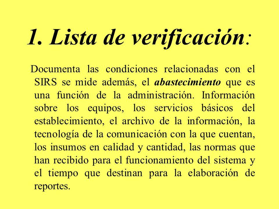 1. Lista de verificación: