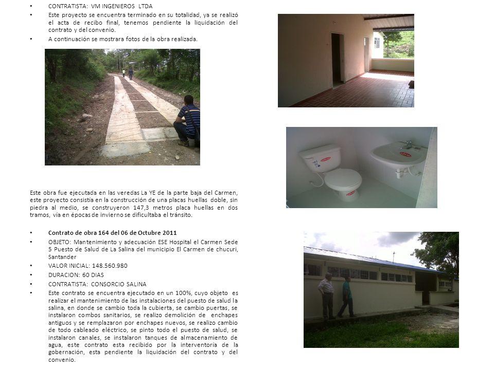 CONTRATISTA: VM INGENIEROS LTDA