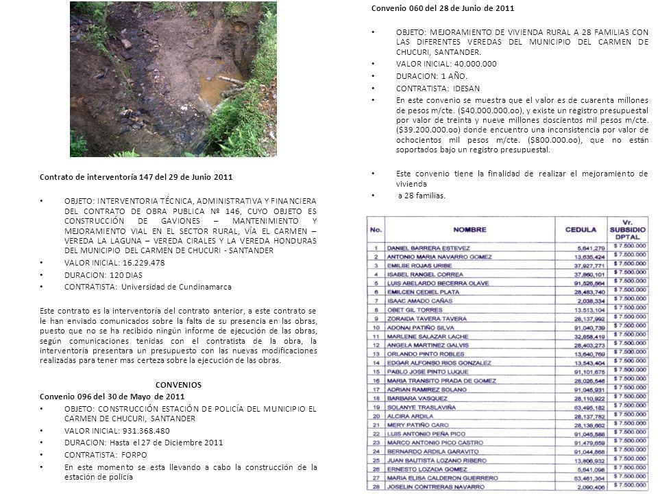Contrato de interventoría 147 del 29 de Junio 2011
