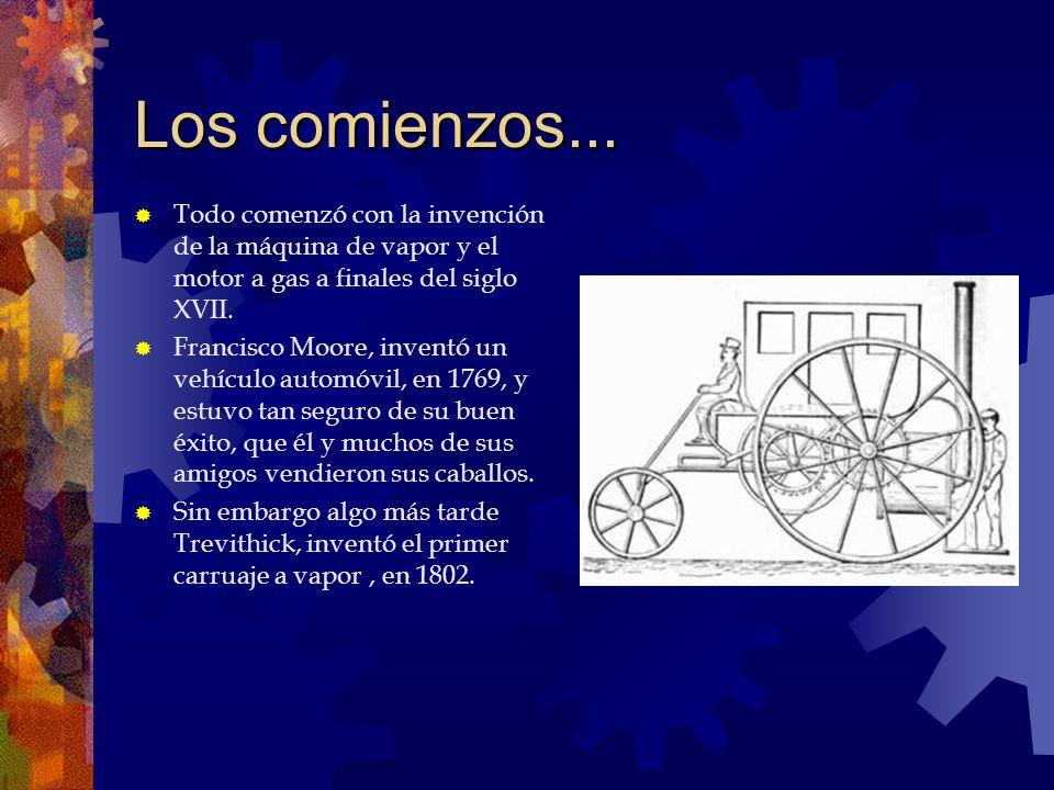 Los comienzos... Todo comenzó con la invención de la máquina de vapor y el motor a gas a finales del siglo XVII.