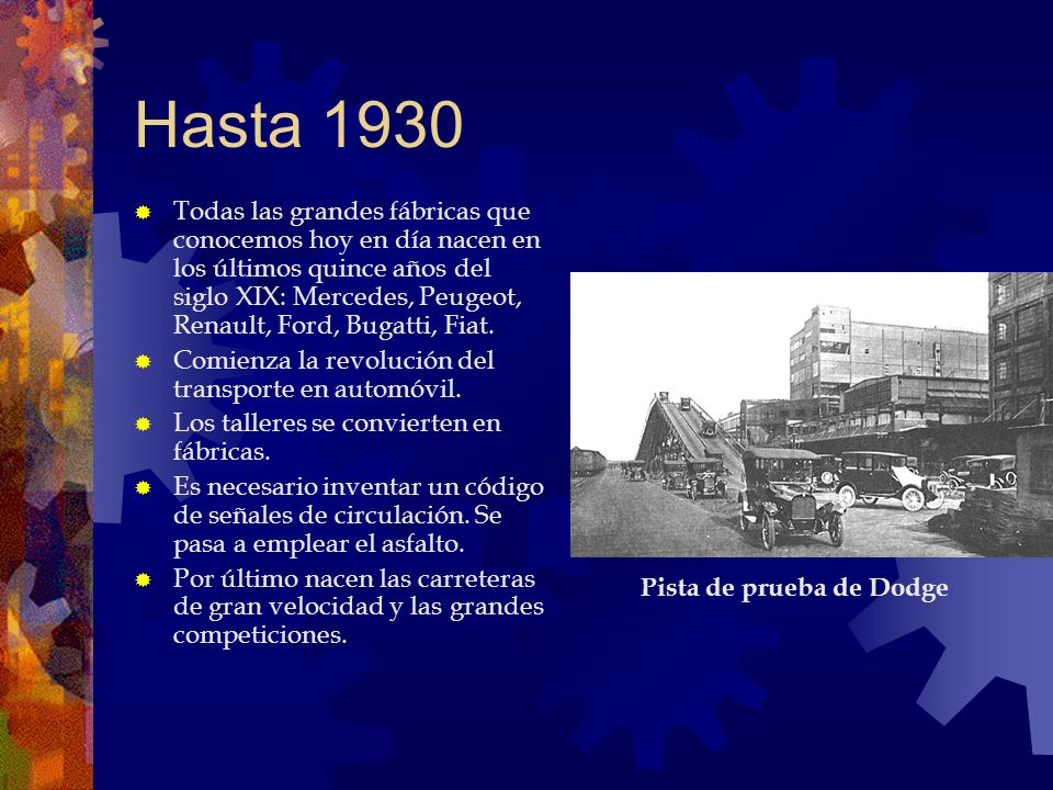 Hasta 1930