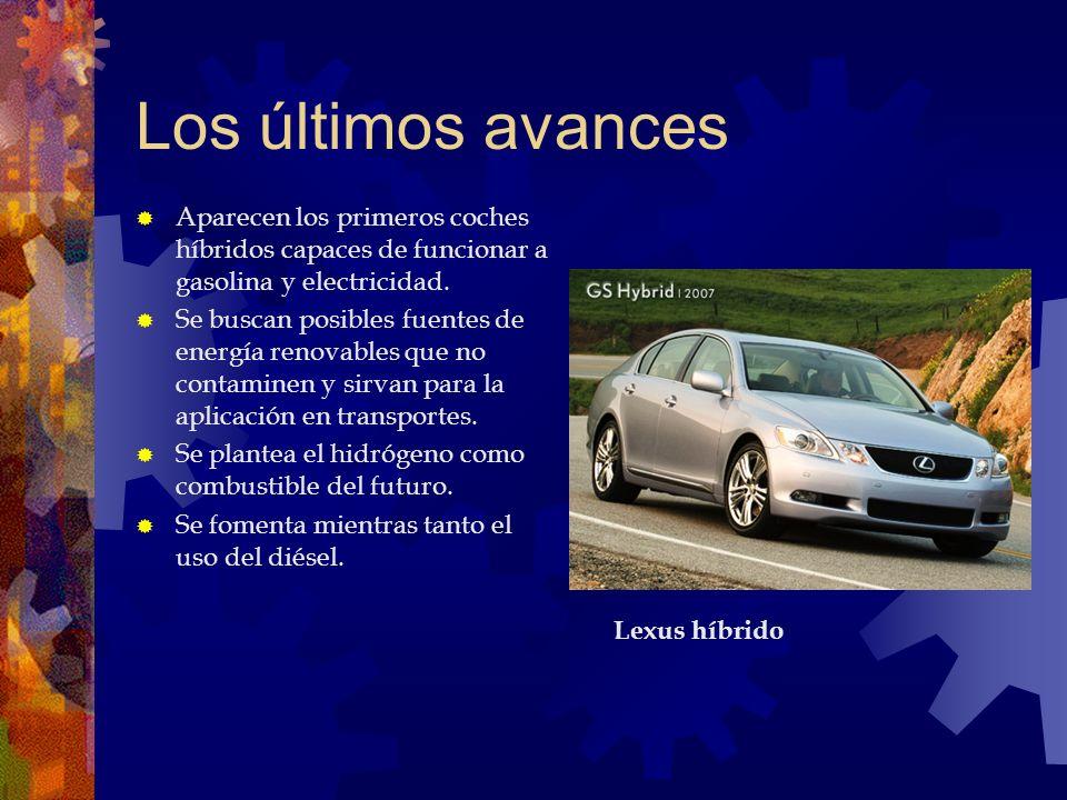 Los últimos avances Aparecen los primeros coches híbridos capaces de funcionar a gasolina y electricidad.