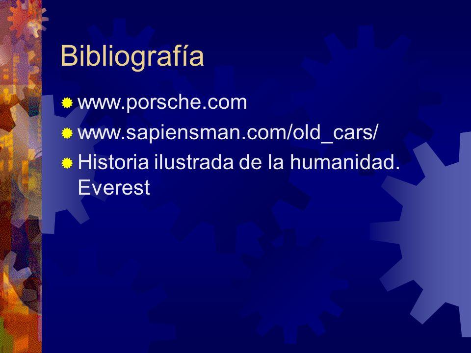 Bibliografía www.porsche.com www.sapiensman.com/old_cars/
