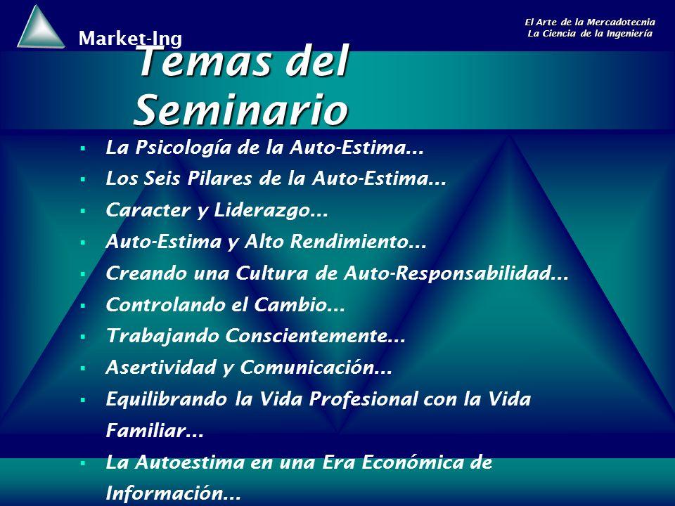 Temas del Seminario La Psicología de la Auto-Estima...
