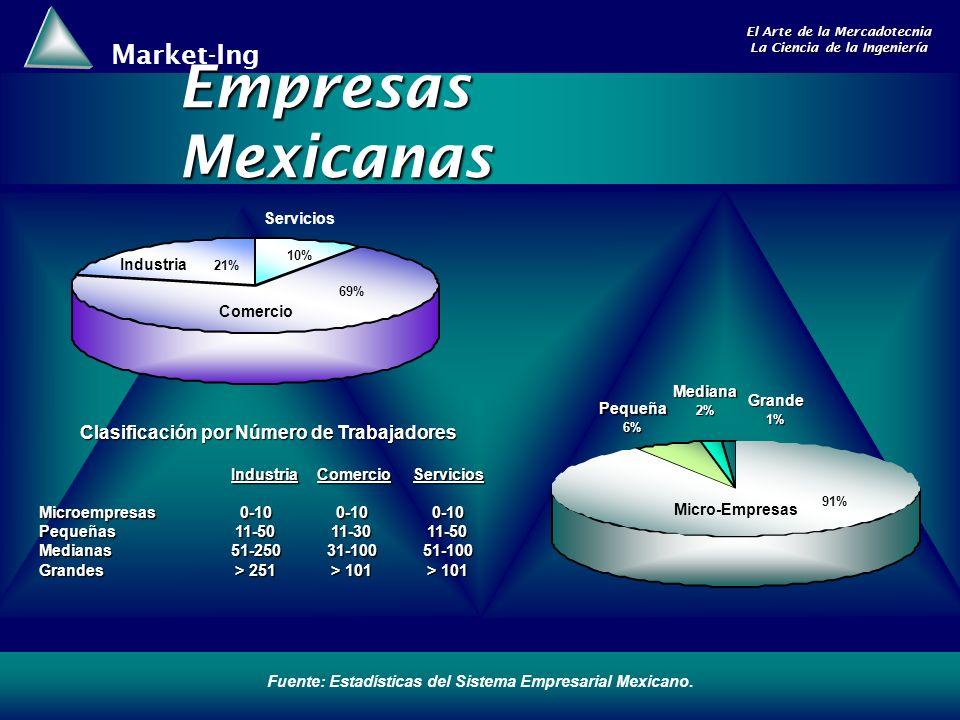 Empresas Mexicanas Clasificación por Número de Trabajadores Servicios